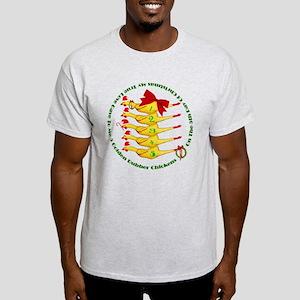 5 Rubber Chickens Light T-Shirt