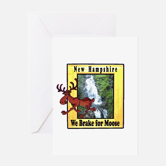 New Hampshire , We Brake for Greeting Card