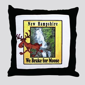 New Hampshire , We Brake for Throw Pillow