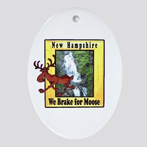 New Hampshire , We Brake for Oval Ornament