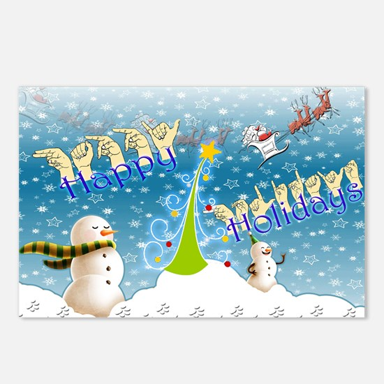 Holiday, happy Postcards (Package of 8)