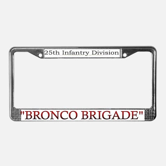 25th Inf Div 3bde License Plate Frame