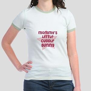 Mommy's Little Cuddle Bunny Jr. Ringer T-Shirt