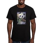 Panda Men's Fitted T-Shirt (dark)