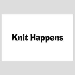 Knit Happens Kitting Happens Large Poster