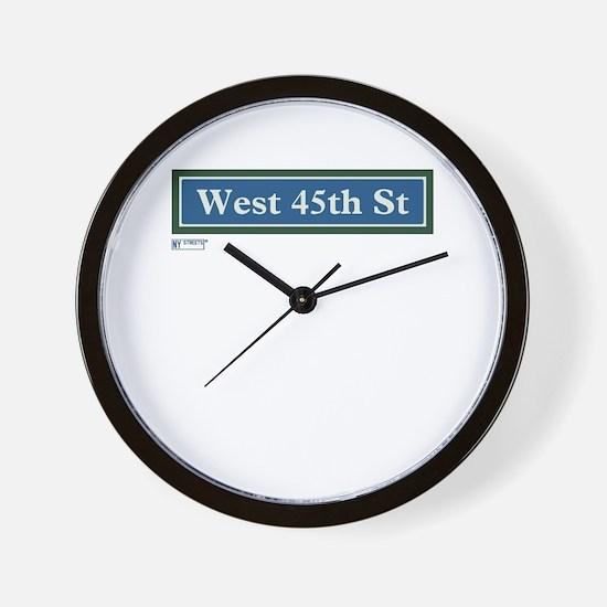 West 45th Street in NY Wall Clock