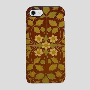 Vintage Leaf and Flower Brown iPhone 7 Tough Case