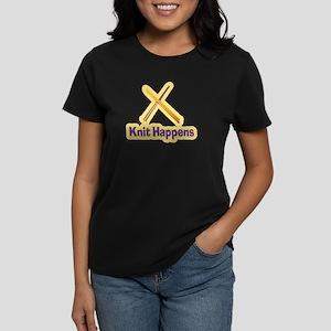 Knit Happens Kitting Happens Women's Dark T-Shirt