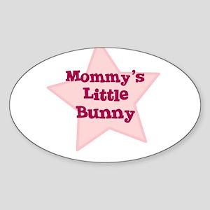 Mommy's Little Bunny Oval Sticker