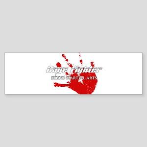 Cage Fighter Bloody Handprint Bumper Sticker