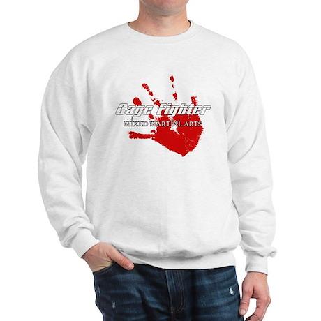 Cage Fighter Bloody Handprint Sweatshirt