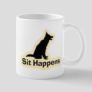 Sit Happens Dog Gifts Mug