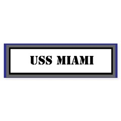 USS Miami Sticker (Bumper)