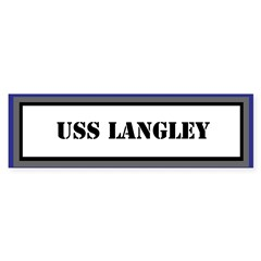 USS Langley Sticker (Bumper)