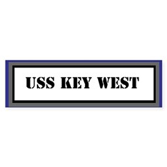 USS Key West Sticker (Bumper)