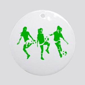 Green express Yourself Female Ornament (Round)