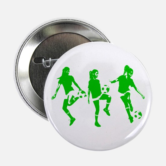 """Green express Yourself Female 2.25"""" Button"""