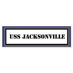 USS Jacksonville Sticker (Bumper)