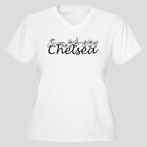 CHELSEA Women's Plus Size V-Neck T-Shirt
