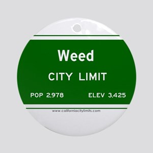Weed Ornament (Round)