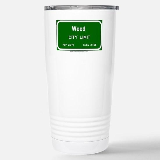 Weed Stainless Steel Travel Mug
