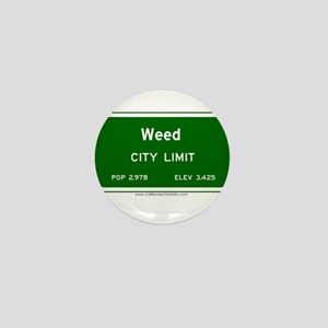 Weed Mini Button
