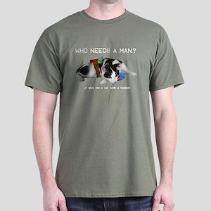 Who Needs a Man? Dark T-Shirt