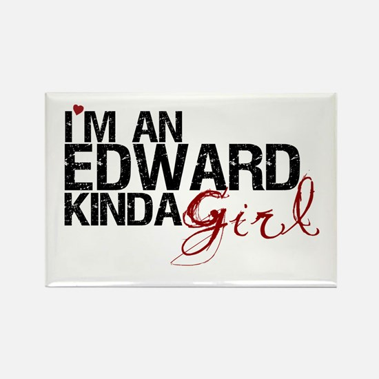 Edward Kinda Girl Rectangle Magnet