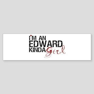 Edward Kinda Girl Bumper Sticker