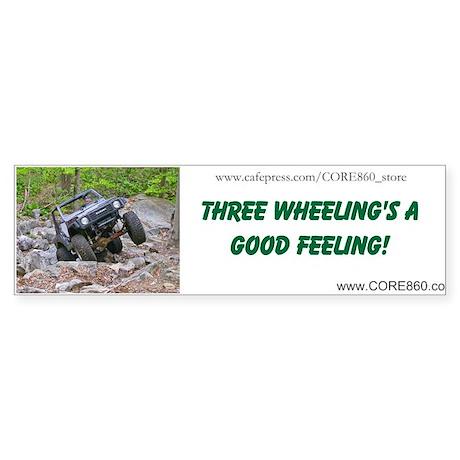 3 wheeling 1 bumper bumper sticker