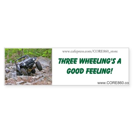 3 wheeling 1 bumper bumper sticker