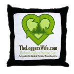 TheLoggersWife.com Throw Pillow