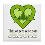 TheLoggersWife.com Tile Coaster
