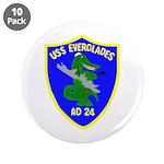 "USS Everglades (AD 24) 3.5"" Button (10 pack)"