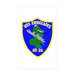 USS Everglades (AD 24) Rectangle Sticker 10 pk)