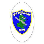 USS Everglades (AD 24) Oval Sticker (50 pk)