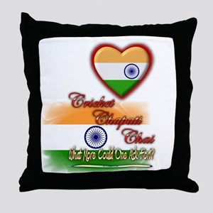 Cricket, chapati, chai - Throw Pillow