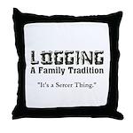 Family Tradition Throw Pillow