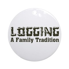 Family Tradition Ornament (Round)