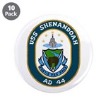 "USS Shenandoah (AD 44) 3.5"" Button (10 pack)"