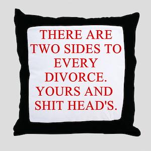 divorce joke Throw Pillow
