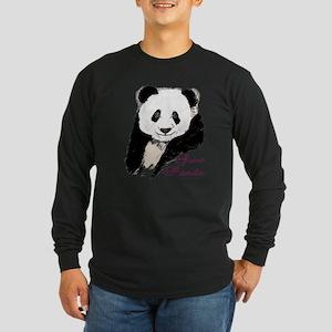 Giant Panda Bear Long Sleeve Dark T-Shirt