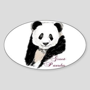 Giant Panda Bear Oval Sticker