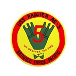 """USS Rainer (AE 5) 3.5"""" Button (100 pack)"""