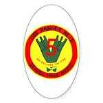 USS Rainer (AE 5) Oval Sticker (50 pk)