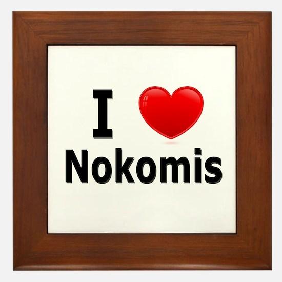 I Love Nokomis Framed Tile