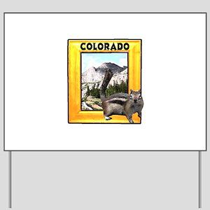 Squirrel in Colorado RMNP Yard Sign