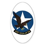 USS Vega (AF 59) Oval Sticker (10 pk)