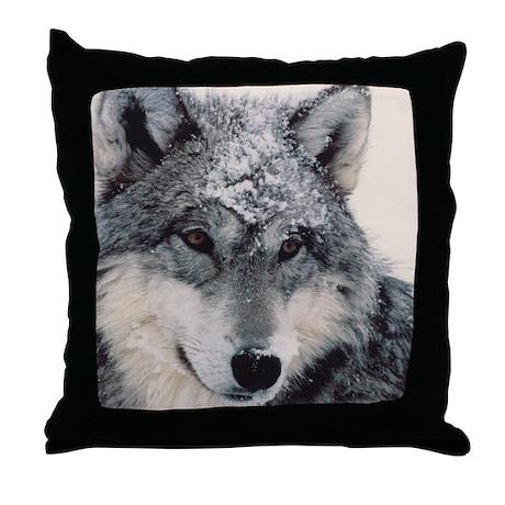 """Wolf Close Up"" Throw Pillow"