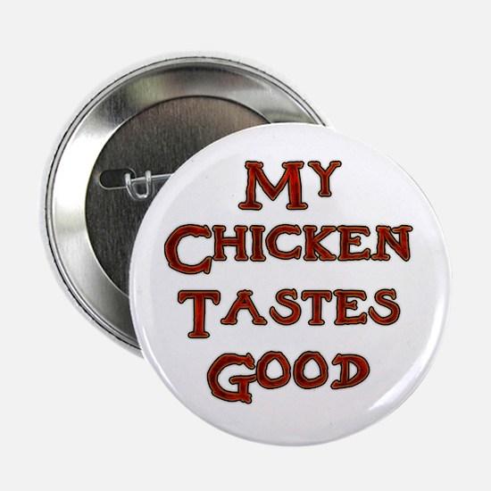 "Contentment Chicken 2.25"" Button"